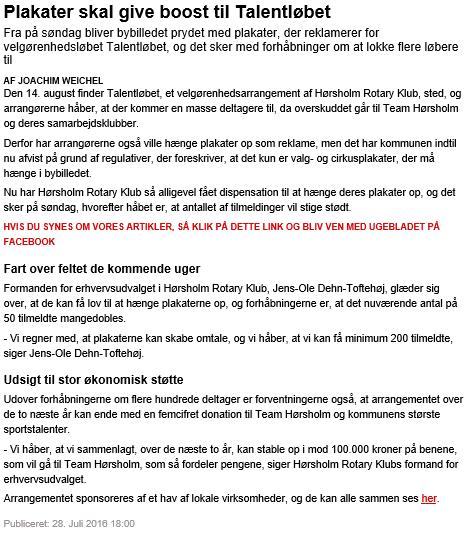 Ugebladet 28/7 2016